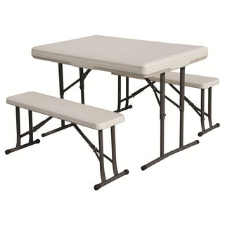 Stansport White Bench Seat Folding Table
