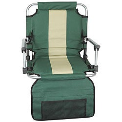 Stansport Blue/ Tan Stripe Armed Stadium Seat