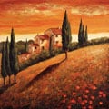 Santo De Vita 'Sunset Over Tuscany I' Canvas Art