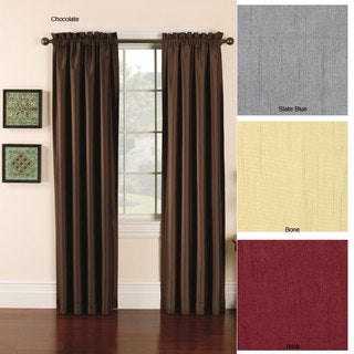 Faux Silk Emerson 95-inch Lined Curtain Panel Pair