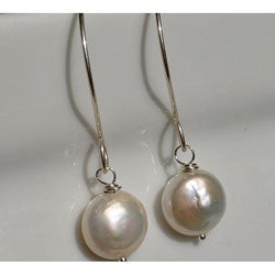 AEB Design Sterling Silver White Freshwater Pearl Earrings