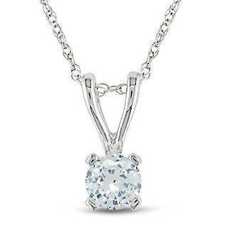 Miadora 10k White Gold Created White Sapphire Fashion Necklace