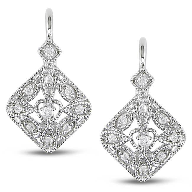 M by Miadora Sterling Silver 1/7ct TDW Diamond Earrings (G-H, I2-I3)