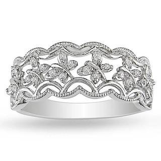 M by Miadora Sterling Silver 1/10ct TDW Diamond Ring (G-H, I2-I3)