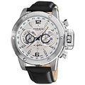 Akribos XXIV Men's Multifunction Stainless Steel Swiss Quartz Strap Watch