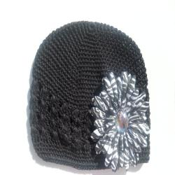 Black Hat and Zebra Flower Clip