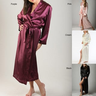 Long Classic Satin Lounge Robe
