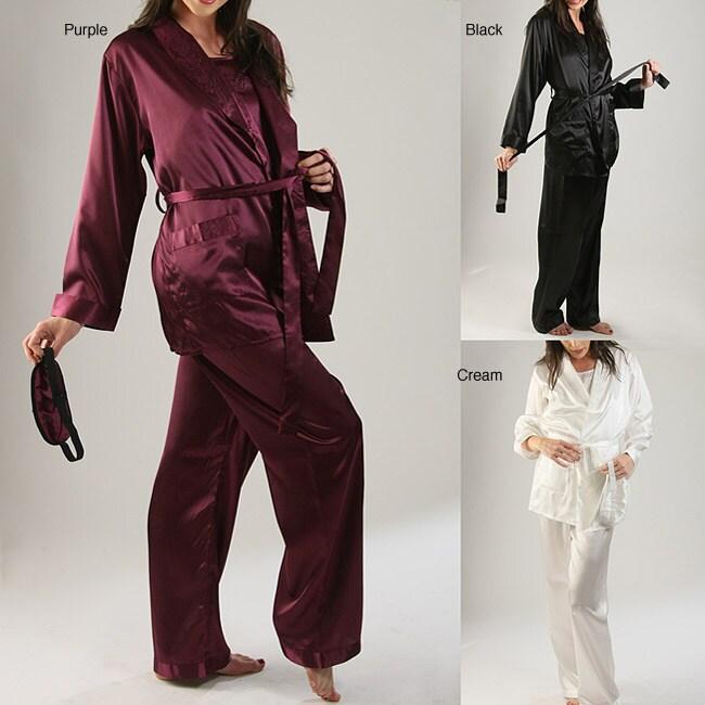 Classic Women's 4-piece Satin Sleepwear Set