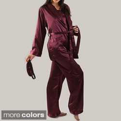 Classic Women's 4-piece Satin Sleepwear Set