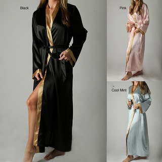 Classic Women's Long Satin Robe