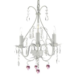 Versailles 3-light White Mini Chandelier