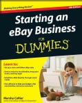 Starting an eBay Business for Dummies (Paperback)