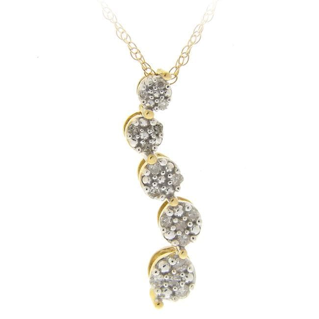 DB Designs 10k Gold 1/8ct TDW Diamond Journey Necklace (I-J, I2-I3)
