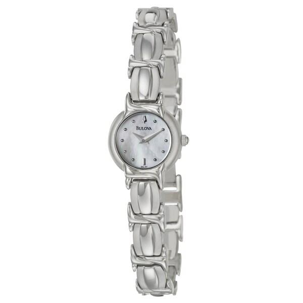 Bulova Women's Stainless Steel White Dial Watch