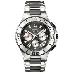 Bulova Men's 'Marine Star' Stainless Steel Chronograph Watch