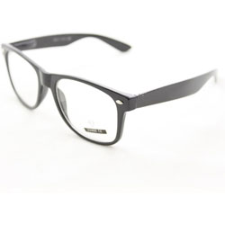 Fashion Sunglasses 222CW Black Glassy Frame Clear Lens