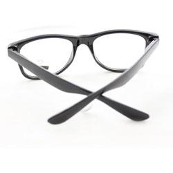 Fashion Sunglasses 222CW Black Glassy Frame Clear Lens