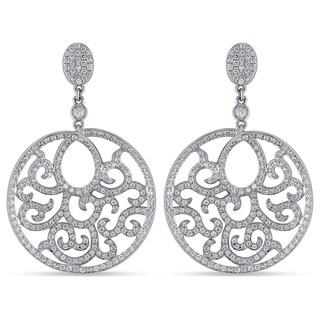 Miadora 18k White Gold 1 1/2ct TDW Diamond Dangle Earrings (G-H, SI1-SI2)