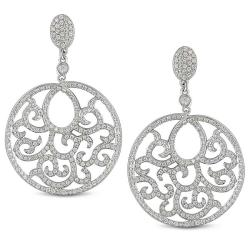Miadora 18k White Gold 1 1/2ct TDW Diamond Dangle Earrings (G-H, SI1-SI2)