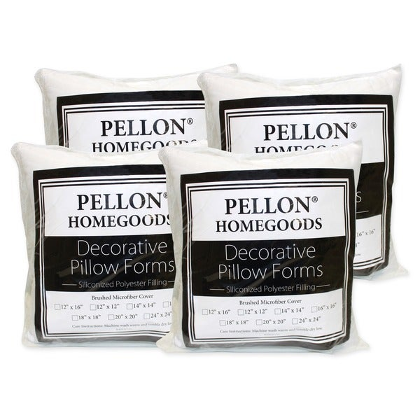 18 x 18 pillow inserts set of 4 overstock shopping big discounts on pellon batting. Black Bedroom Furniture Sets. Home Design Ideas