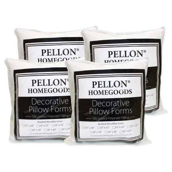 Throw Pillow Inserts 20 X 20 : Pellon Decorative Pillow Inserts 20-inch x 20-inch (Set of 4) - 13187917 - Overstock.com ...