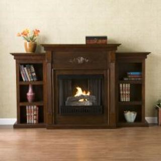 Dublin Espresso Gel Fireplace