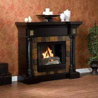 Upton Home Blanchard Black Gel Fireplace