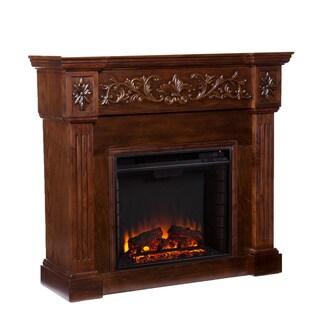 Wellington Espresso Electric Fireplace