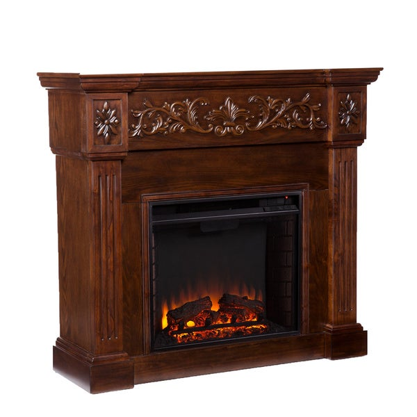 Wellington Espresso Electric Fireplace