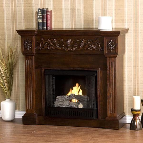 Wellington Espresso Gel Fireplace