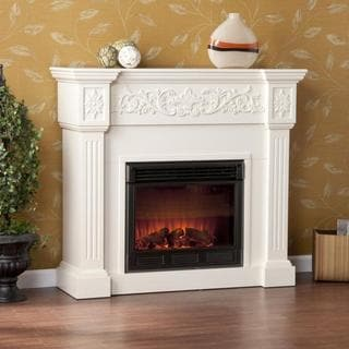 Upton Home Wellington Ivory Electric Fireplace