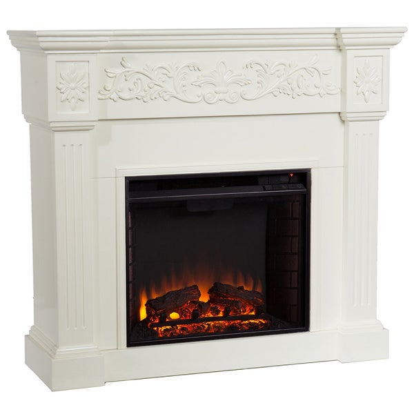 Upton Home Wellington Ivory Electric Fireplace Overstock