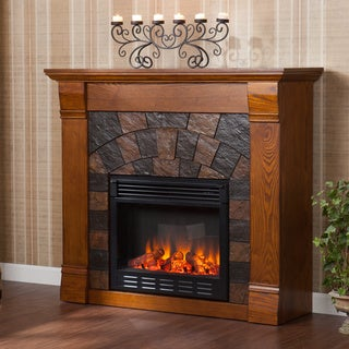 Stonegate Antique Oak Electric Fireplace