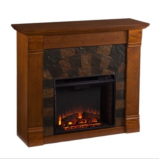 Upton Home Stonegate Antique Oak Electric Fireplace