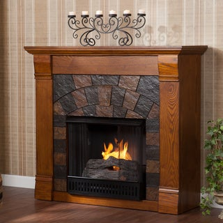 Stonegate Antique Oak Gel Fireplace