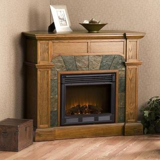 Hollandale Mission Oak Electric Fireplace