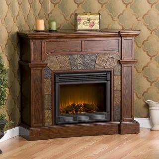 Hollandale Espresso Electric Fireplace