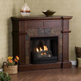 Upton Home Hollandale Espresso Gel Fireplace