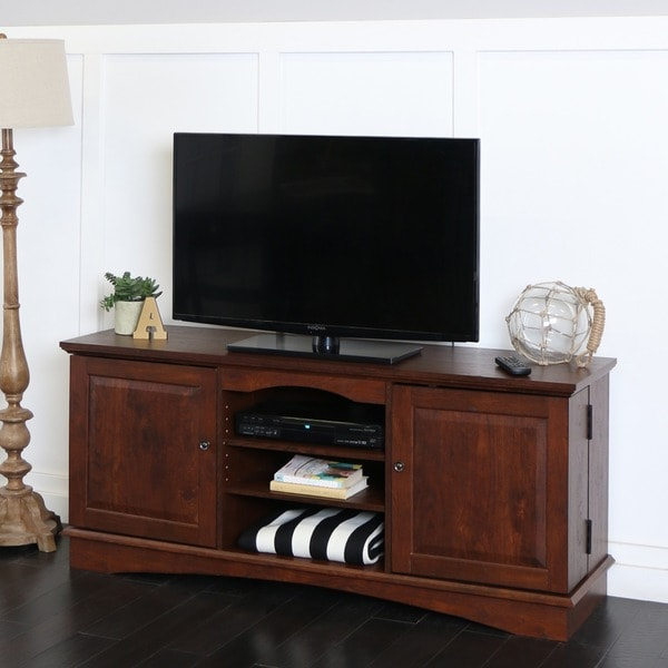 60 In Brown Wood Tv Stand 13188323 Overstock Com