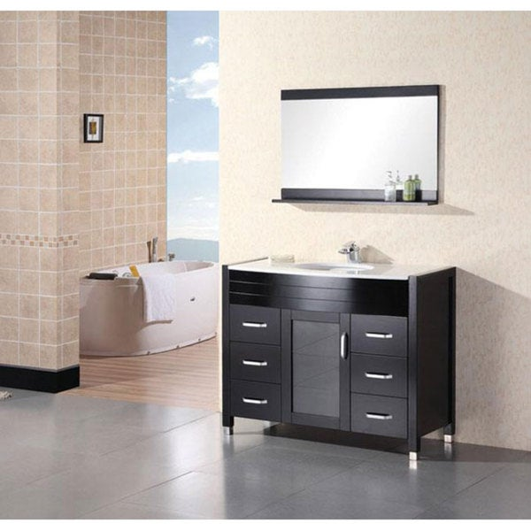 Design Element Cascade 48-inch Single Sink Stone Bathroom Vanity