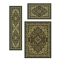 Traditional Caroline Medallion Sage 3-piece Rug Set (3'3 x 4'11, 5'5 x 7'7, 2'2 x 7'7)