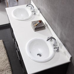 Keith Double-basin Marble Vanity By Ove Decors