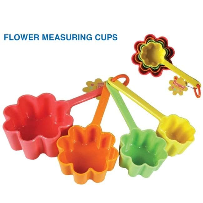 Flower Measuring Cups (Pack of 4)