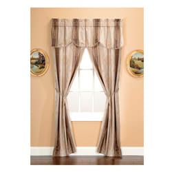 Tuscan Jacquard Mocha 5-piece Window Treatment Set
