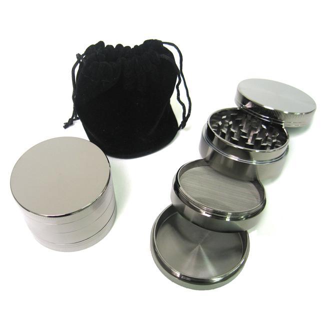 Zinc Steel 4-piece 2.2-inch Chromium Herb Grinder (OEM)