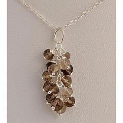 Sterling Silver Smoky Quartz Cascade Necklace