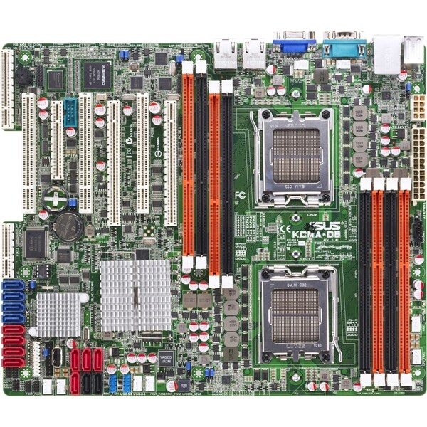 Asus KCMA-D8 Server Motherboard - AMD SR5670 Chipset - Socket C32 LGA