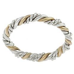 Tressa Goldfill and Sterling Silver Twist Ring