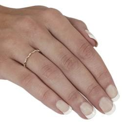 Journee Collection Sterling Silver and Goldfill Twist Ring