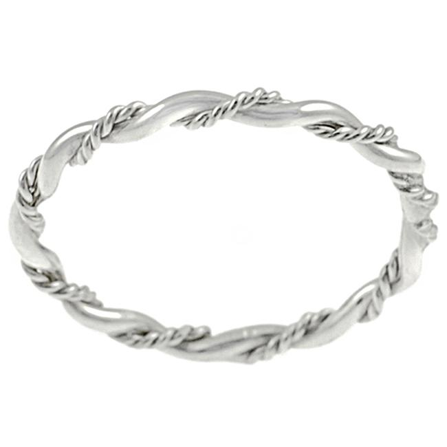 Journee Collection Sterling Silver Twisted Ring